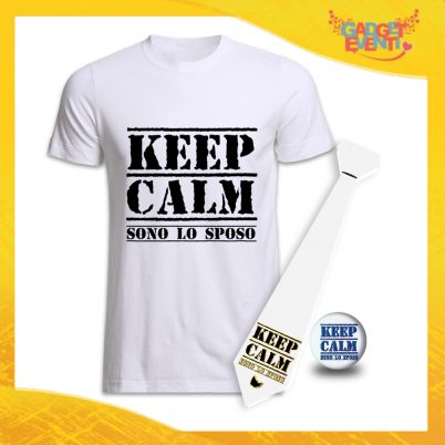 kit party addio al Celibato KEEP CALM BIANCO