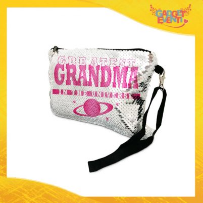 POCHETTE NONNA IN PAILLETTES GREATEST GRANDMA