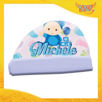 cappellino bimbo personalizzabile con nome piedini