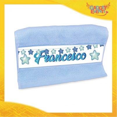 Asciugamano bimbo personalizzabile con nome Stelline