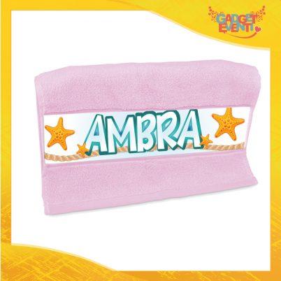 """Asciugamano bimba personalizzata con nome """"Sirenetta"""""""