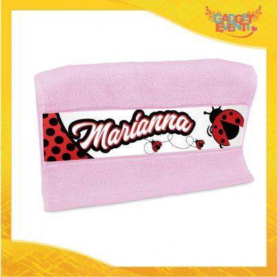 Asciugamano personalizzata con nome bimba Coccinella