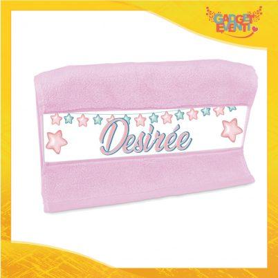 Asciugamano bimba personalizzata con nome Stelline