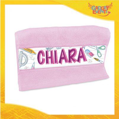 Asciugamano bimba personalizzabile con nome Back to School