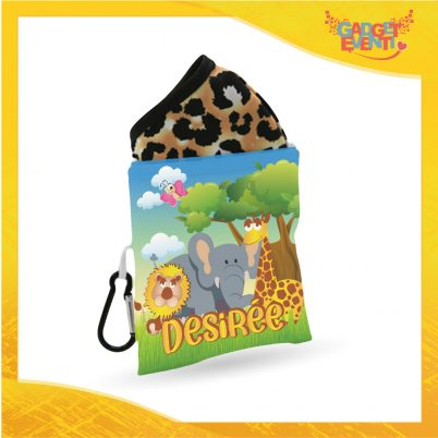 Porta mascherina bimba personalizzabile con nome Safari