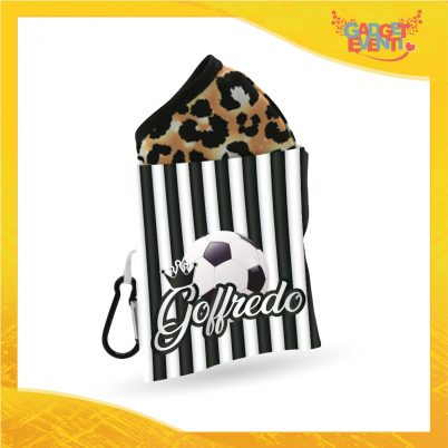 Porta mascherina bimbo personalizzabile con nome Bianconero