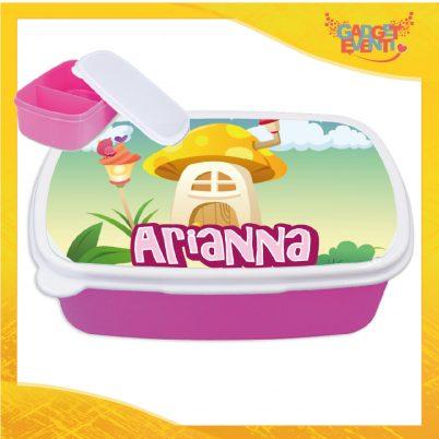 Porta pranzo bimba personalizzabile con nome Funghetto