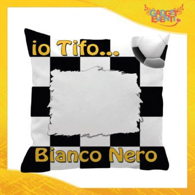 Cuscino Quadrato Tifoso Bianconero