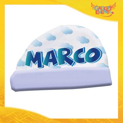 """Cappellino bimbo personalizzabile con nome """"Cuore e Piedini"""""""