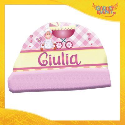 Cappellino bimba personalizzabile con nome Pecorella