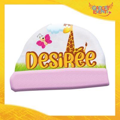 cappellino bimba personalizzato con nome Safari