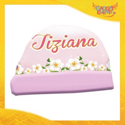Cappellino bimba personalizzabile con nome Cicogna