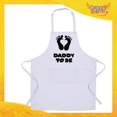 Grembiule bianco da cucina Daddy to be