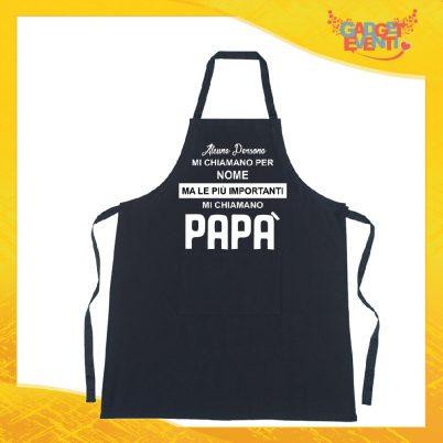 Grembiule nero da cucina personalizzato mi chiamano papà