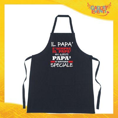 Grembiule da cucina nero personalizzato Papà speciale
