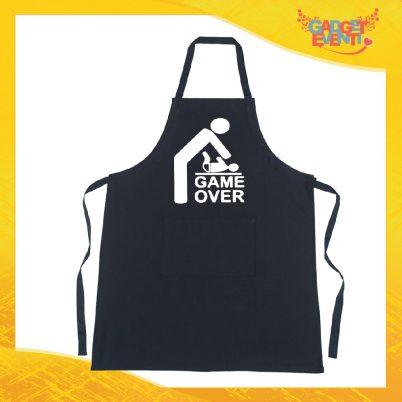 """Grembiule da cucina nero personalizzato Game Over"""""""