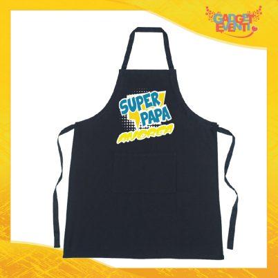 Grembiule nero da cucina Super Papà
