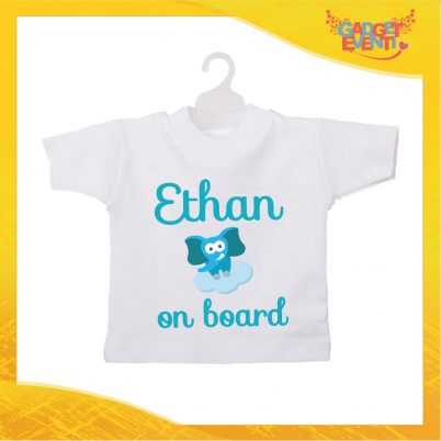 Mini tshirt bimbo personalizzata elefantino nuvoletta