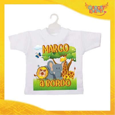 Mini tshirt bimbo personalizzabile con nome Safari