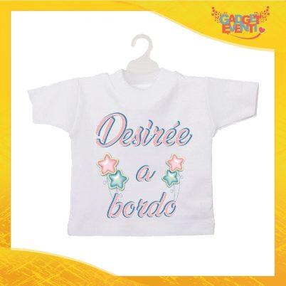 Mini tshirt bimba personalizzata stelline