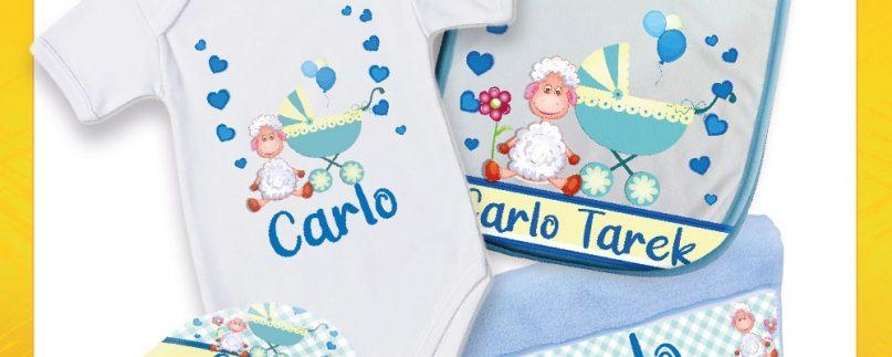 Corredino per bimbi alla nascita personalizzato con nome