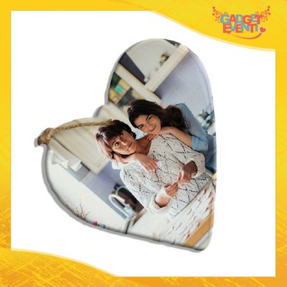 Tagliere cuore in ceramica Personalizzato con Testo e Foto idea regalo