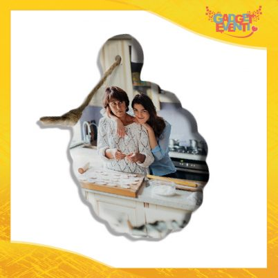 Tagliere fiore in ceramica Personalizzato con Testo e Foto idea regalo
