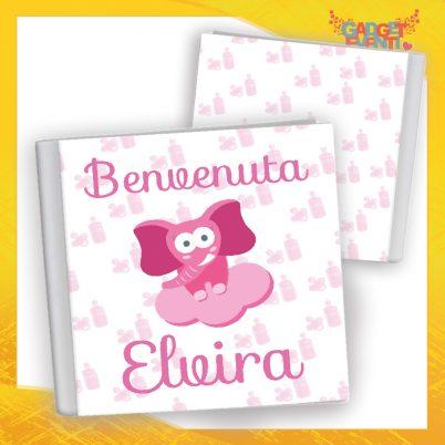 Album bimba personalizzato con nome Elefantino Nuvoletta