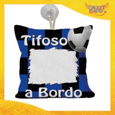 Mini cuscino personalizzabile tifoso a bordo neroazzurro