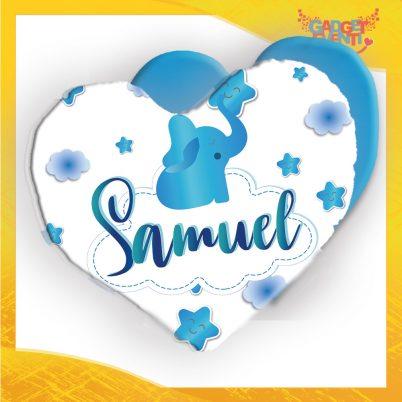cuscino cuore bimbo personalizzato con nome Elefantino
