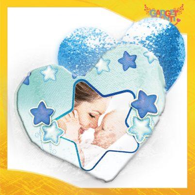 Cuscino cuore paillettes bimbo Stelline