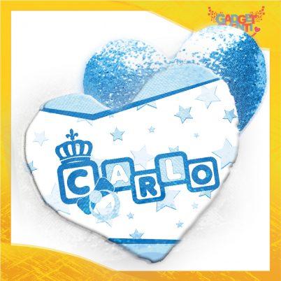 Cuscino cuore paillettes bimbo personalizzato con nome Dadini