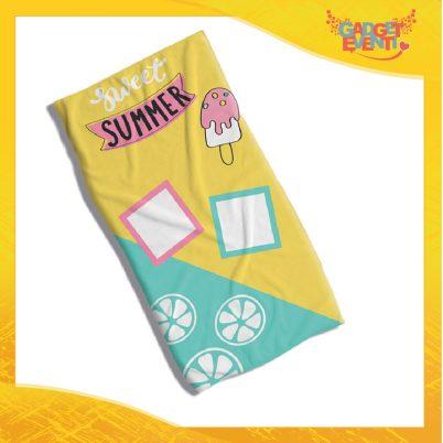 "telo mare ""Sweet summer"" in spugna cotone"