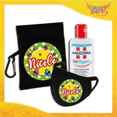 kit igienizzante bimba personalizzato con nome farfalline