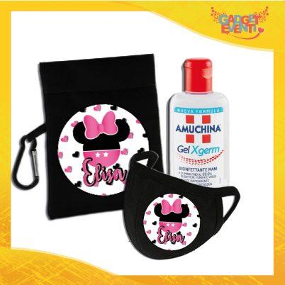 kit igienizzante bimba personalizzato con nome topolino scarpette