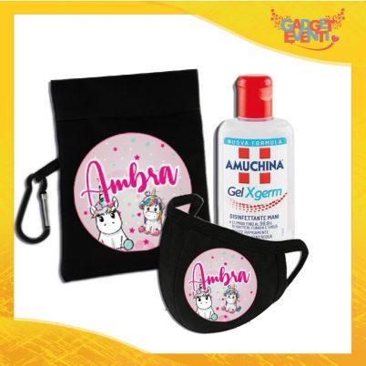 kit igienizzante bimba personalizzato con nome unicorno