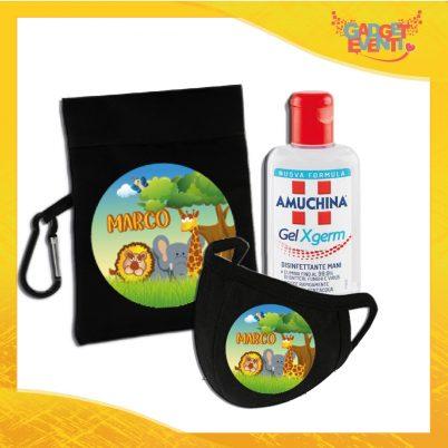 kit igienizzante bimbo personalizzato con nome safari