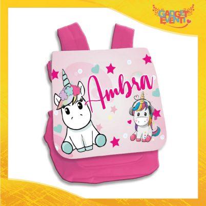 zainetto bimba personalizzato con nome unicorno